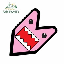 Car-Decal Domo Kun PINK Jdm Wakaba BADGE Not-Vinyl EARLFAMILY 13cm-X-12.7cm GIRL