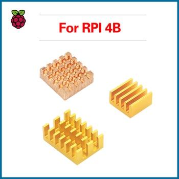 S ROBOT For Raspberry Pi 4B Heat Sink 3pcs Cooper Aluminum Heatsink Radiator Cooling kit RPI142 aluminum heat sink for raspberry pi silver 3pcs