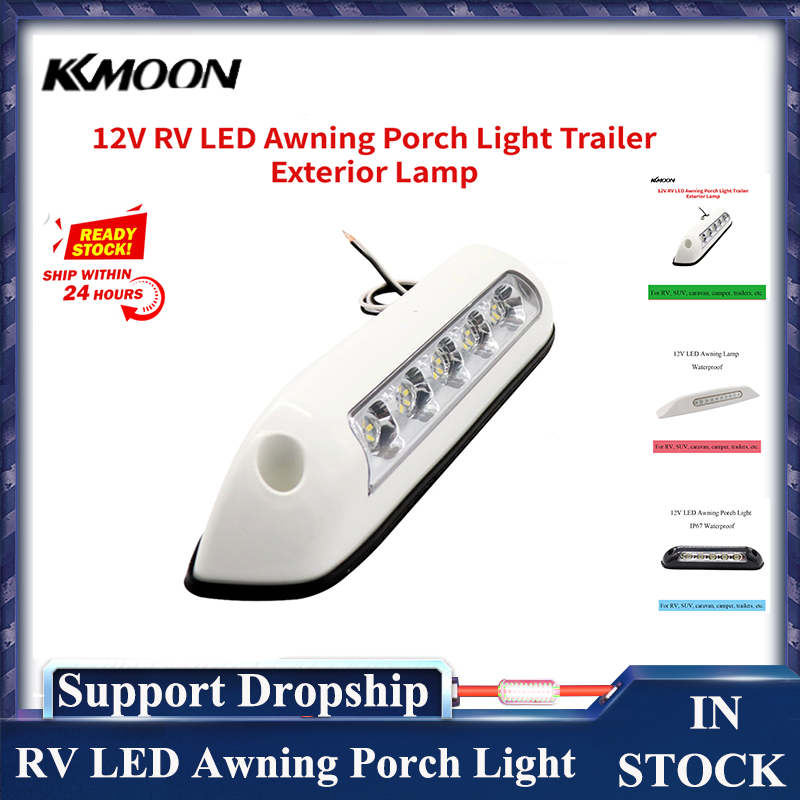 12V RV LED Awning Porch Light Waterproof Motorhome Caravan Interior Wall Lamps Light Bar RV Van Camper Trailer Exterior Lamp