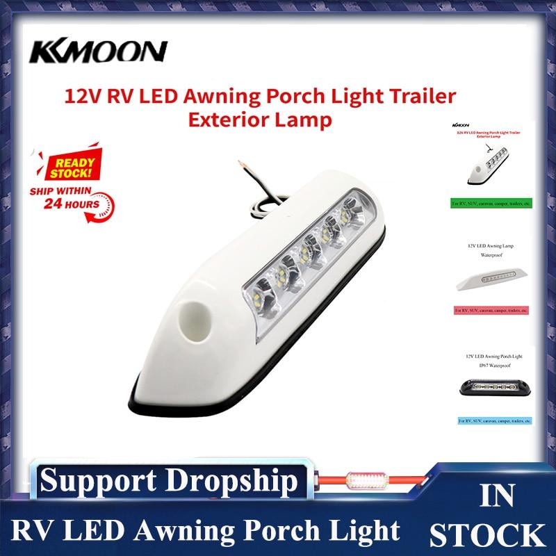 12V RV LED Awning Porch Light Waterproof Motorhome Caravan Interior Wall Lamps Light Bar RV Van Camper Trailer Exterior Lamp