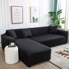 25 cor sólida nova arte de pano turnkey antiderrapante elastano estiramento sofá capa grande elástico sofá mobiliário capa-máquina lavável