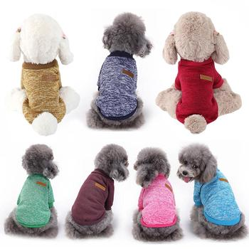 Winter Warm Woolen Yarn Knit Dog Cats Sweater Pullover Jacket Coat Pet Clothes