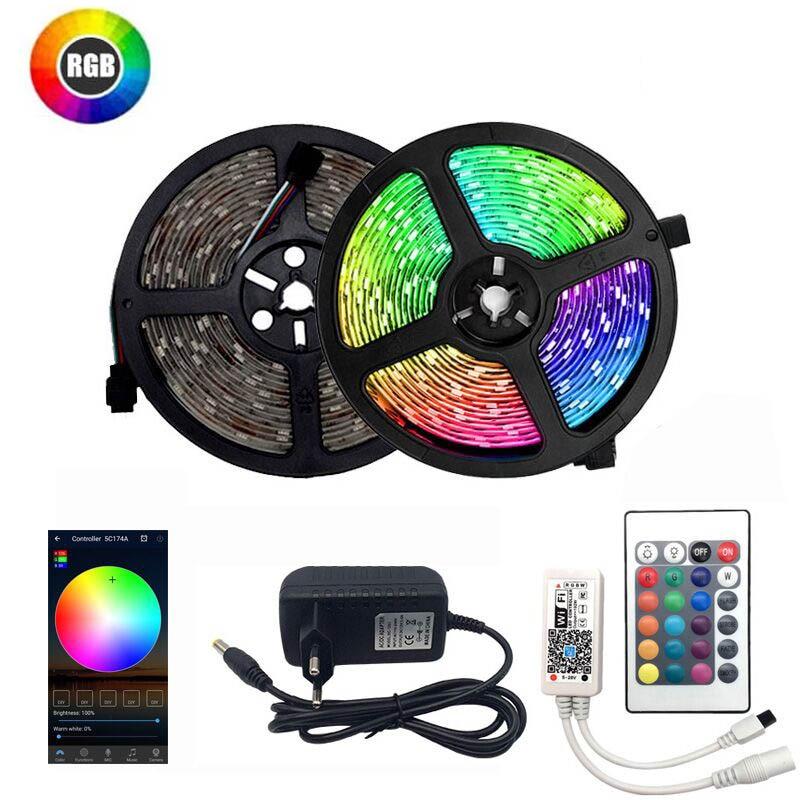 LED Strip Light 12V 5M SMD 3528 2835 Diode Tape RGB White Warm White Blue Red Green Color 60Leds/M LED Ribbon Flexible Lights