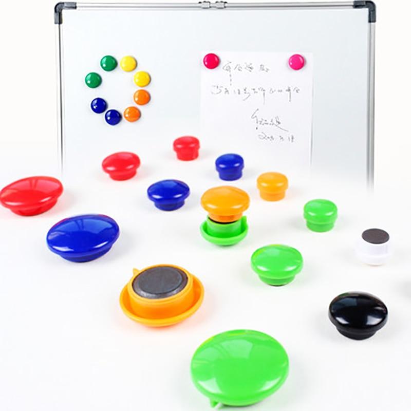 10 PCS Colored Cork Notice Marker Board Magnetic Thumb Tacks Kawai Magnet Whiteboard Thumbtacks For White Bord Blackboard Fridge