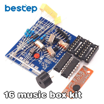 16 Music Box 16 Sound Box BOX-16 16-Tone Box Electronic Module DIY Kit DIY Parts Components Accessory Kits Board sound control electronic crystal column making light of cubic led diy producing sound music spectrum parts kit