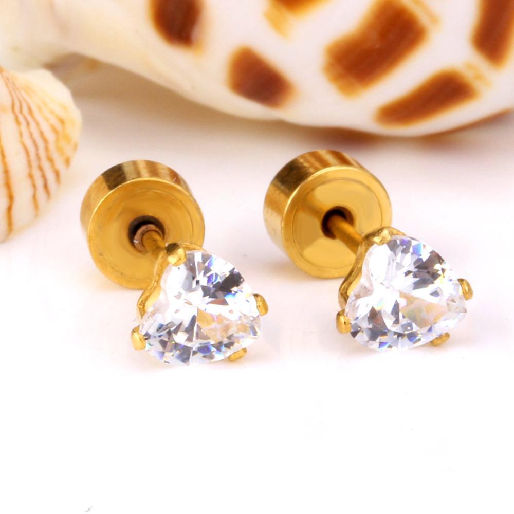 LUXUSTEEL Καρδιά Κρύσταλλο Σκουλαρίκι - Κοσμήματα μόδας - Φωτογραφία 4