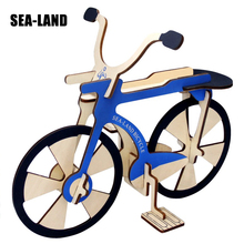 3D Wood Baby Puzzles Children Adults Vehicle Bicycle Model Wooden Toys Learning Educational Assemble Toy Fun Game Jigsaw