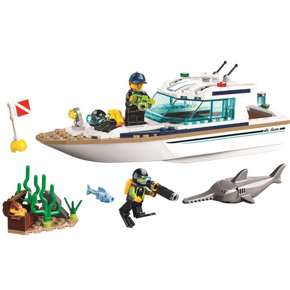 Nuovo Legoed Serie Ocean Ship Building Block Giocattoli Compatibile con Legoed Assembl FAI DA TE Educare Giocattoli Per I Bambini Regali Di Natale