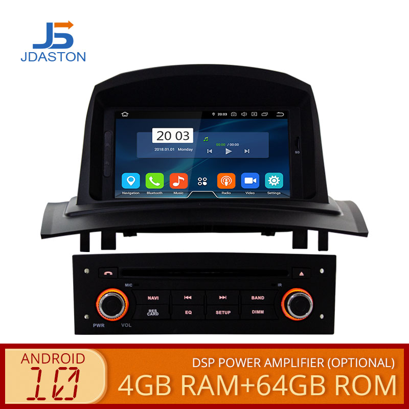 JDASTON Android 10 Car DVD Player For RENAULT Megane Fluence 2 2002-2008 Octa Cores 4G+64G Multimedia GPS Stereo WIFI Radio RDS