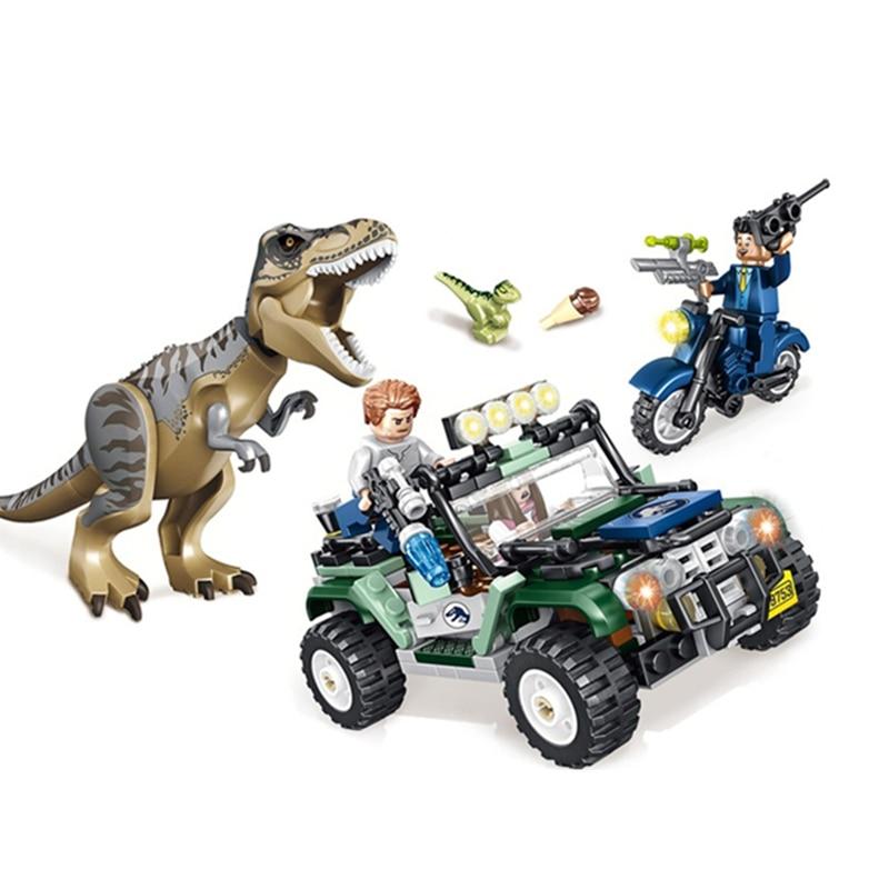 NEW HOT 2pcs Jurassic World Park Pteranodon Escape T.rex Breakout BuildingBlocks