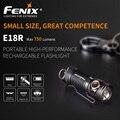 Fenix E18R Cree XP L salut LED 750 lumens 16340/CR123A charge magnétique EDC lampe de poche avec torche de batterie 16340|LED lampes de Poche|   -