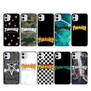 Wumeiyuan Flame wave THRASHER case coque fundas for iphone 11 PRO MAX X XS XR 4S 5S 6S 7 8 PLUS SE 2020 cases cover(China)