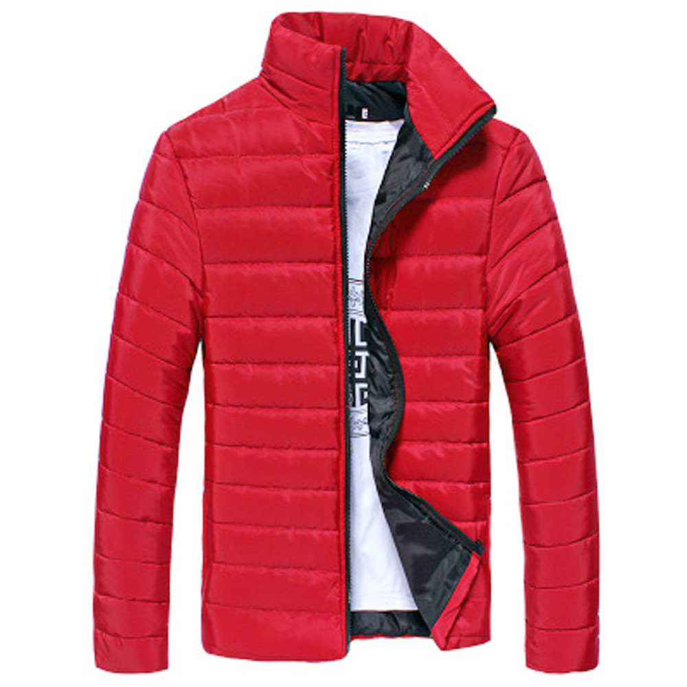 Men's Jacket New Casual Cotton Stand Zipper Warm Winter Thick Coat High Quality Jacket Mens Autumn Fashion Overcoat
