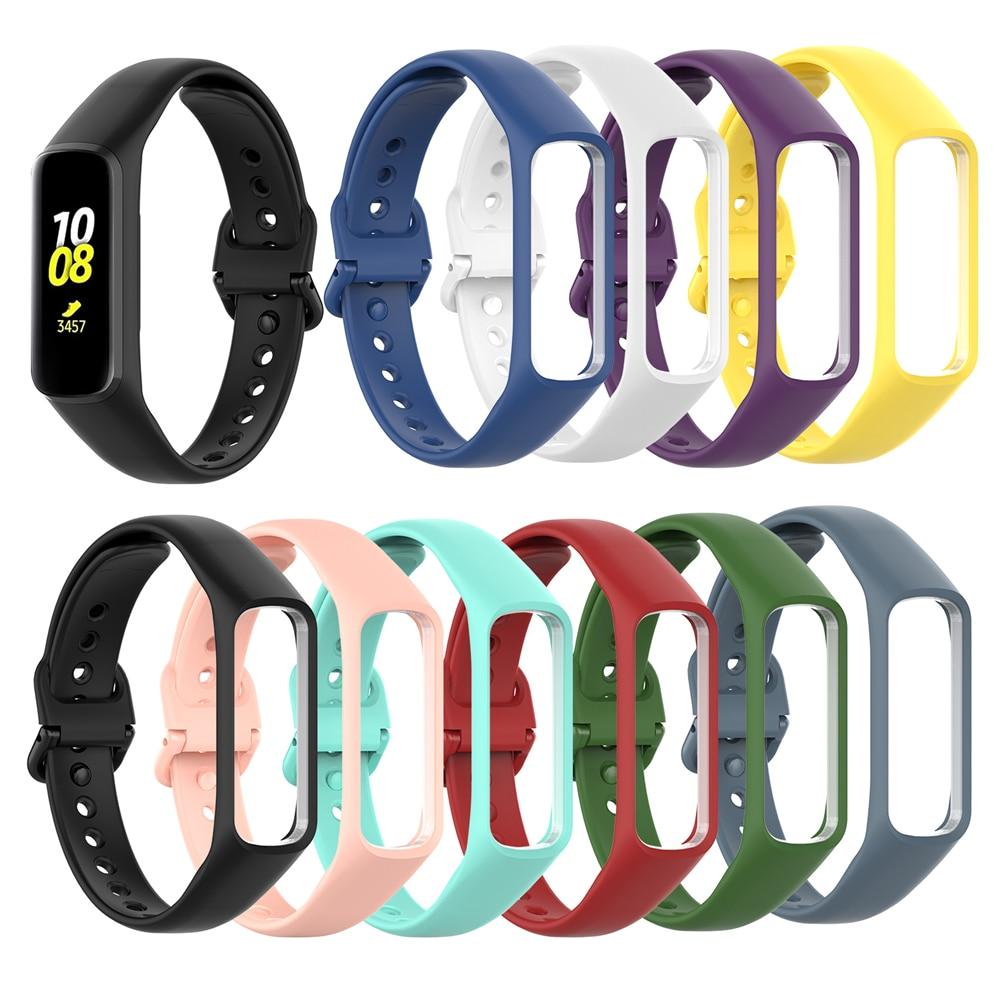 Pulseira pulseira banda pulseira pulseira esportes silicone ajustável substituição relógio banda para samsung galaxy fit-e ajuste e r375