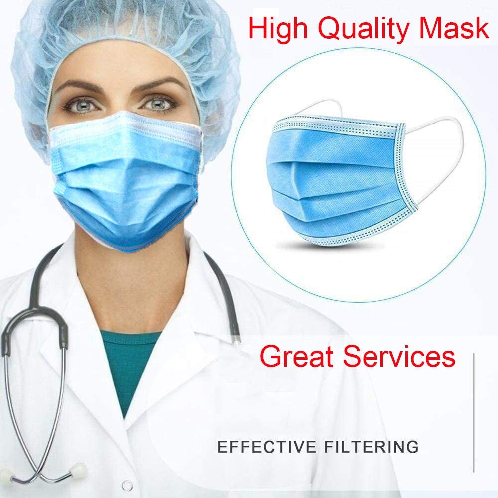 Высокое качество! Отличный сервис! 25 шт./лот, защитная маска для лица, одноразовые противопылевые противоскользящие ушные петли|Маски| | - AliExpress