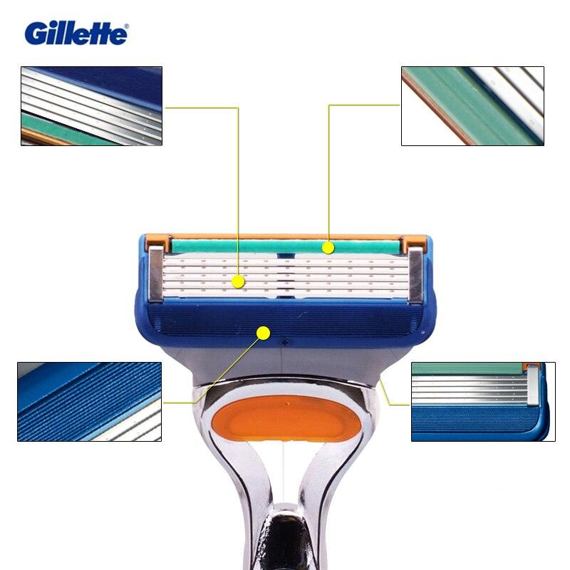 4 pçs gillette fusão lâmina de barbear