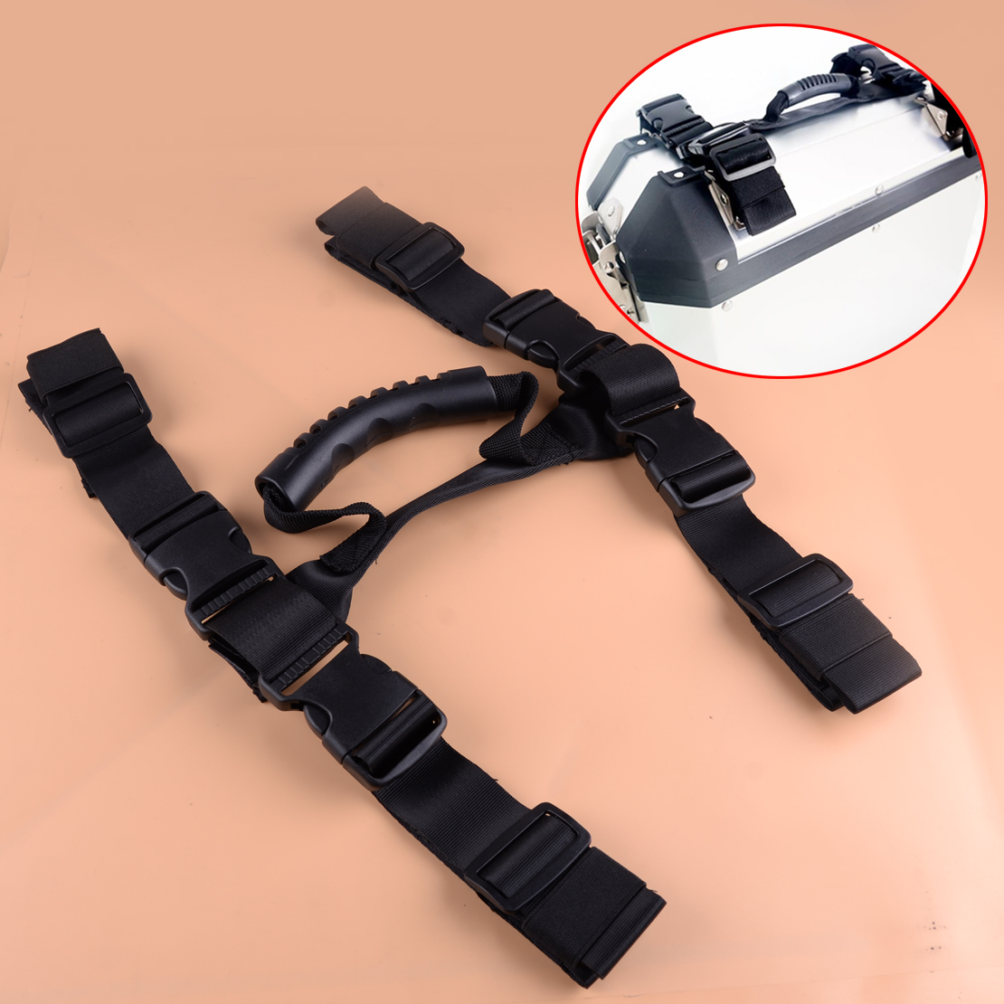 beler Side Box Pannier Rope String Handle Fit For BMW R1200GS LC ADV Adventure F700GS F800GS