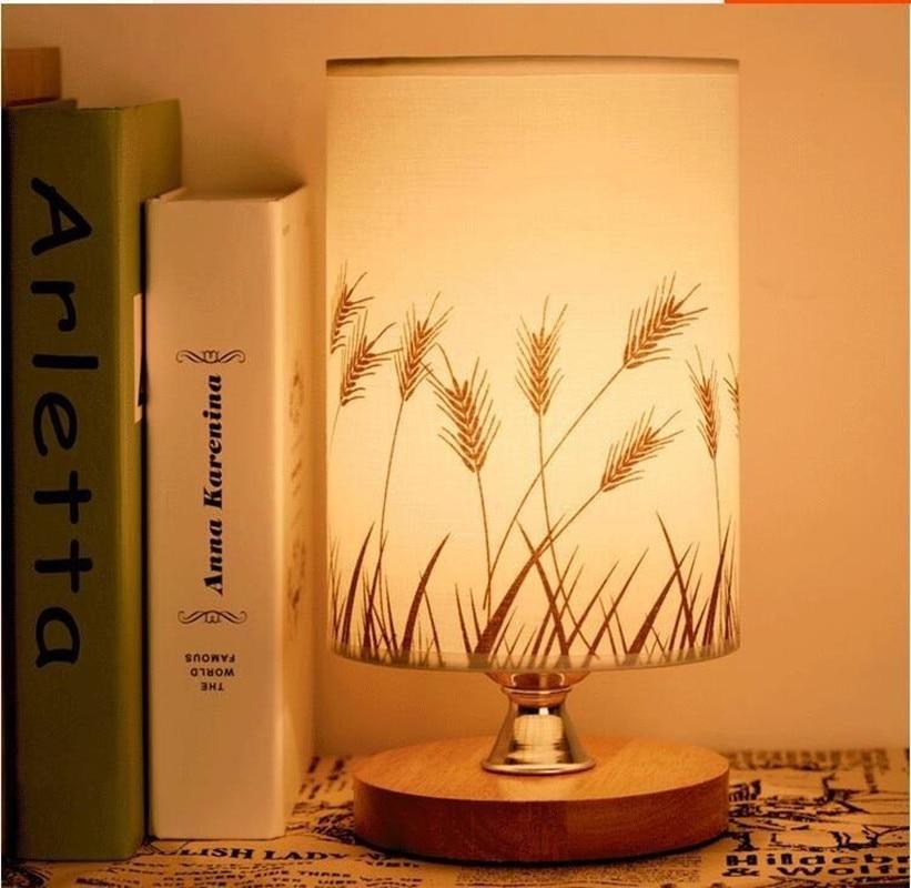 Lamparas De mesa De cristal para dormitorio, lampara De noche LED, lampara De cama moderna, Lampe De Chevet De Chambre