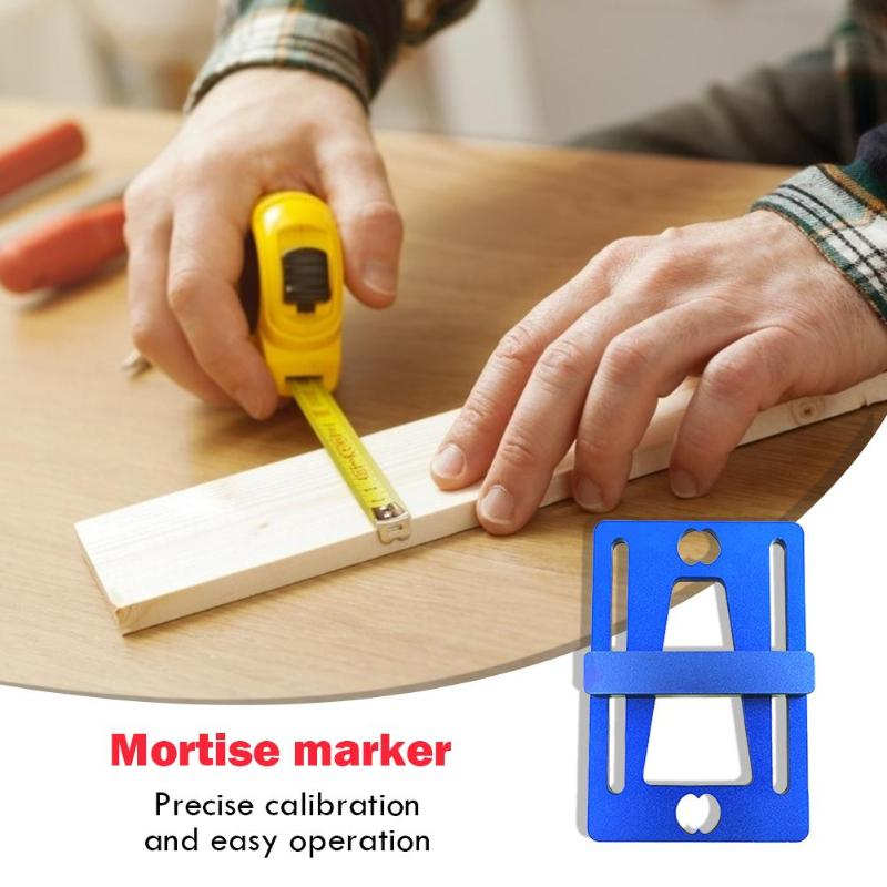 Portable Aluminum Alloy Wood Scriber Joints Gauge Dovetail Marking Gauge Precise Calibration Easy Carry Woodworking Guide Tools
