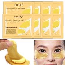 8pair Collagen Crystal Eye Mask Golden Moisturizing Eye Patch Gel Pad Anti Aging Dark Circles Remove Lifting Friming Eye Care