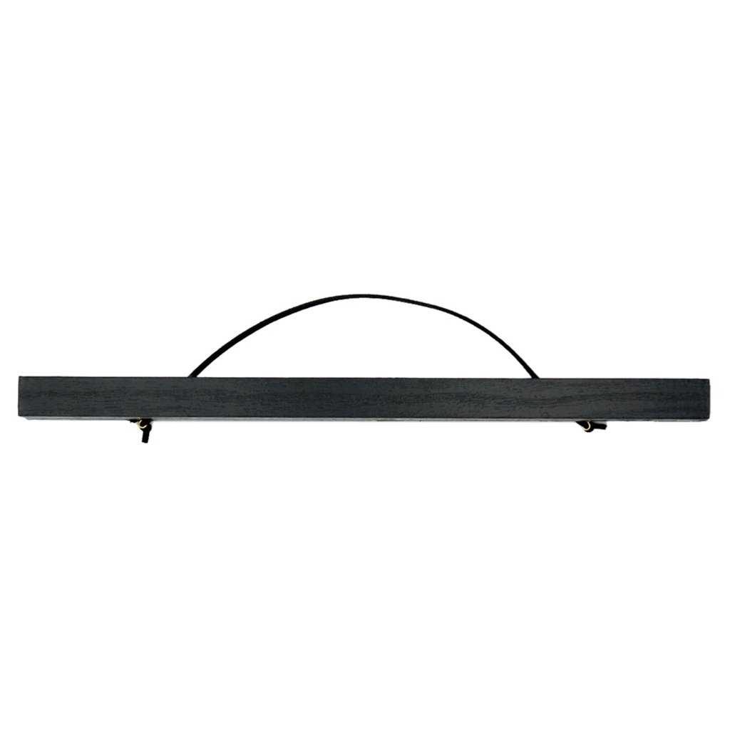 Nordic Wood Poster Holder Poster Rail Poster Rail Poster Holder Bracket Snap Frame - Black