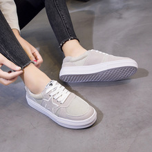 Women Flat Shoes Gray/Black/White Ladies Shoes Spring/Summer/Autumn/Winter Casual Female Shoes Flats Loafers Woman Footwear