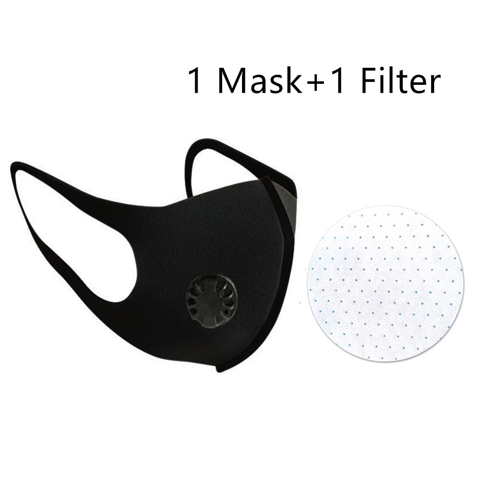 Breathable Washable Masks Dustproof Face Mask Respirator With Breath Valve Anti-Dust Anti Pollution Face Mouth Protective Mask