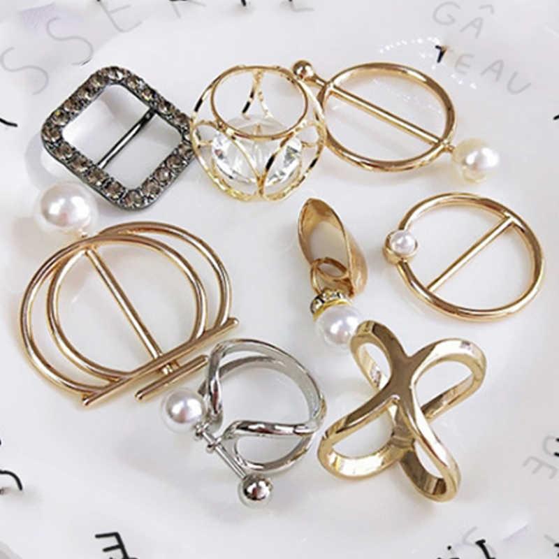 1 Pcs Perhiasan Mutiara Imitasi Mutiara Dudukan Syal Syal Bros Klip Sutra Selendang Gesper Cincin Klip Perhiasan Hadiah