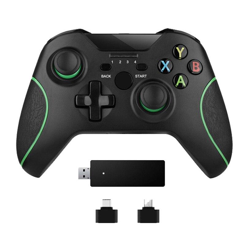 2.4g controlador sem fio para xbox um console para pc para android smartphone gamepad joystick
