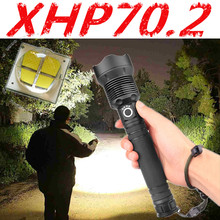 2020 Led Flashlight 80000 Lumens Xhp70.2 Most Powerful Flashlight 26650 Usb Torch Xhp70 Lantern 18650 Hunting Lamp Hand Light