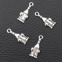 WKOUD/30pcs Mini Antique Silver Wine & Wine glass Charm Bracelet Earrings DIY Metal Jewelry alloy Pendant 21*9mm A880 50pcs hot antique silver fashion women infinity red wine glass bangle pendant bracelet chain charm jewelry 17cm 5cm z0345