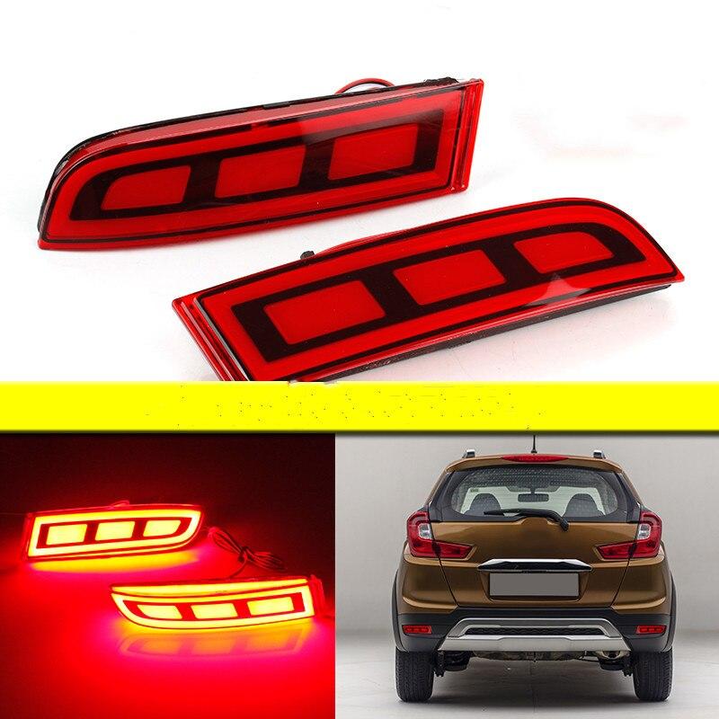 eOsuns led rear bumper light for honda WRV WR-V 2017-18, driving lamp + brake light 2 functions warning light