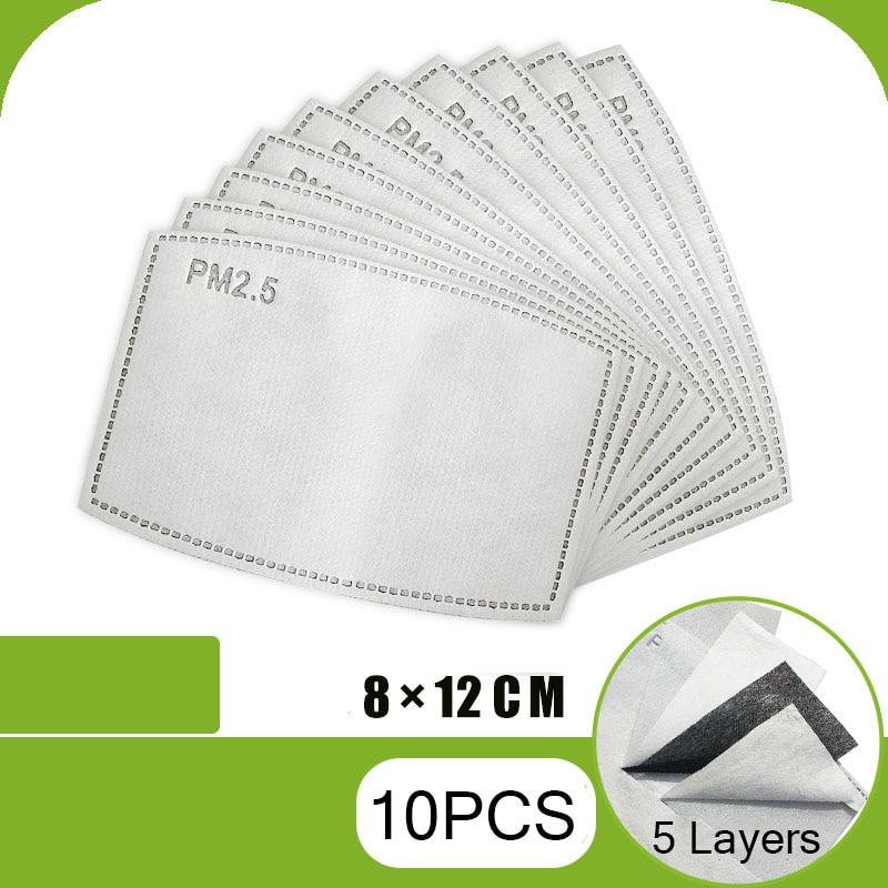 New 10pcs/Lot Anti Haze Mouth Mask PM2.5 Filter Paper Anti Dust Mask Filter Paper Health Care