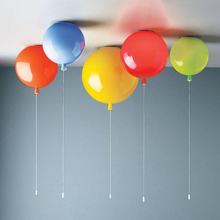 E27 Современные Простые светодиодные подвесные светильники акриловая детская комната многоцветные воздушные шары спальня домашний деко ос