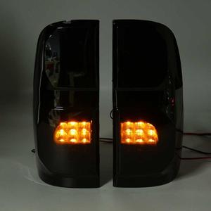 Дым светодиодные задние светильник для Toyota Hilux Vigo KUN26 SR SR5 напарник 2004-2015 хвост светильник задний тормоз задний светильник противотуманной фары Drl