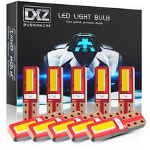 DXZ-bombillas LED T5 para salpicadero de coche, luz superbrillante Canbus blanco, Chipsets 2SMD para instrumento de coche, sin errores, 12V, 10 Uds.