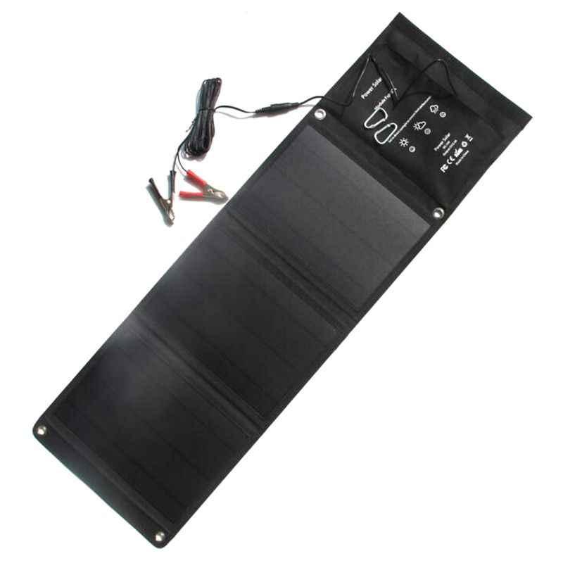 21 Вт солнечная панель + складное солнечное зарядное устройство для мобильного Pohone/12 В Автомобильное зарядное устройство двойной Usb5V и Dc18V выход