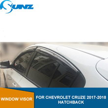 Side Winodow Deflectors For Chevrolet Cruze 2017 2018 hatchback Sun Rain Guards Wind shields Sun Rain Deflector Guard SUNZ