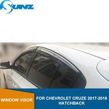 Yan pencere Deflector için Chevrolet Cruze 2017 2018 hatchback güneş yağmur muhafızları rüzgar siperliği güneş yağmur deflektör bekçi SUNZ