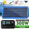300W Панели солнечные комплект полный двойной 12/5V DC usb-камера с флеш-картой памяти 60A/100A блок управления установкой на солнечной батарее солнеч...