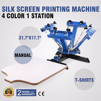 Screen Printing Press Free Shipping 4 Color 1 Station For T-Shirt DIY Printing promotion screen printing uv exposure unit t shirt stencil ink jets diy with wholesale price and imported quality