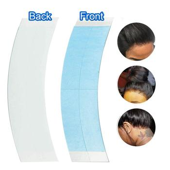 36pcs  Blue Pre-Cutted Lace Front Wig Tape V Shape Double Sided Tape For Toupee/Lace Wig Hair System Adhesive Tape 36pcs lot strong wig lace front blue 1 2 double tape for toupee lace wig tape hair extension hair system adhesive tape