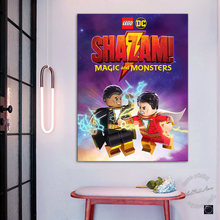 Unframed Cartoon Painting LEGO DC Shazam! :Magic and Monsters Wall Art Pictures for Children Room and Living Room Decor Gifts(China)