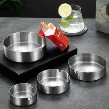 Ashtray Metal Minimalistic Stainless-Steel Creative Home Hou Anti-Drop Kuan Jia