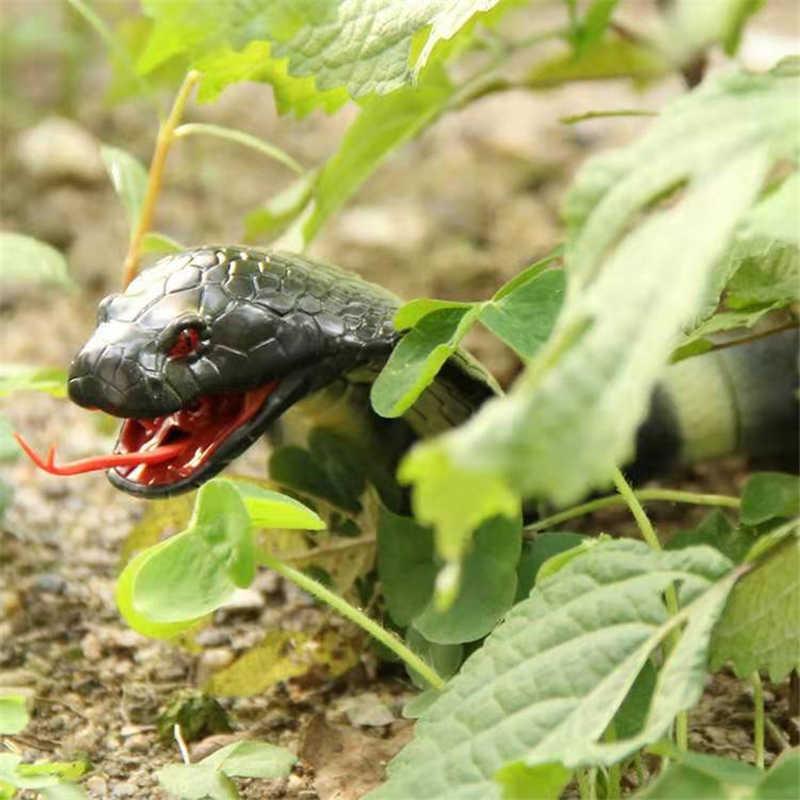 Naja cobra brinquedo de controle remoto infravermelho simulado animal cascavel novidade truque terrível travessura novidade presente rc brinquedo
