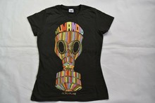 FICTION PLANE HUMANOID LADIES SKINNY T SHIRT NEW OFFICIAL BAND SPARKS LEFT SIDE(China)