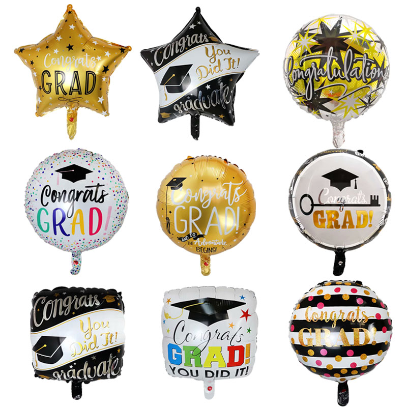 Doctor Balloons Star Round Graduation 2020 Balloons Grad Globos Graduation Gift Back To School Party Decorations Birthday Decor