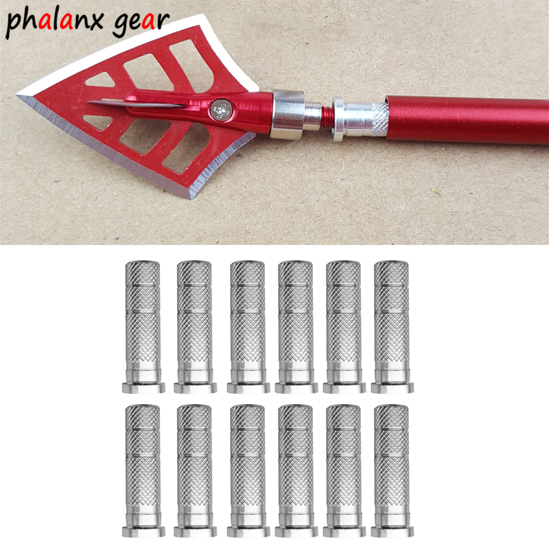 12 Pcs Silver Bow And Arrow Accessories 6.2 Inner Diameter Arrow Arrow Carbon And Alloy Rod Dart Bow Connector W7E3