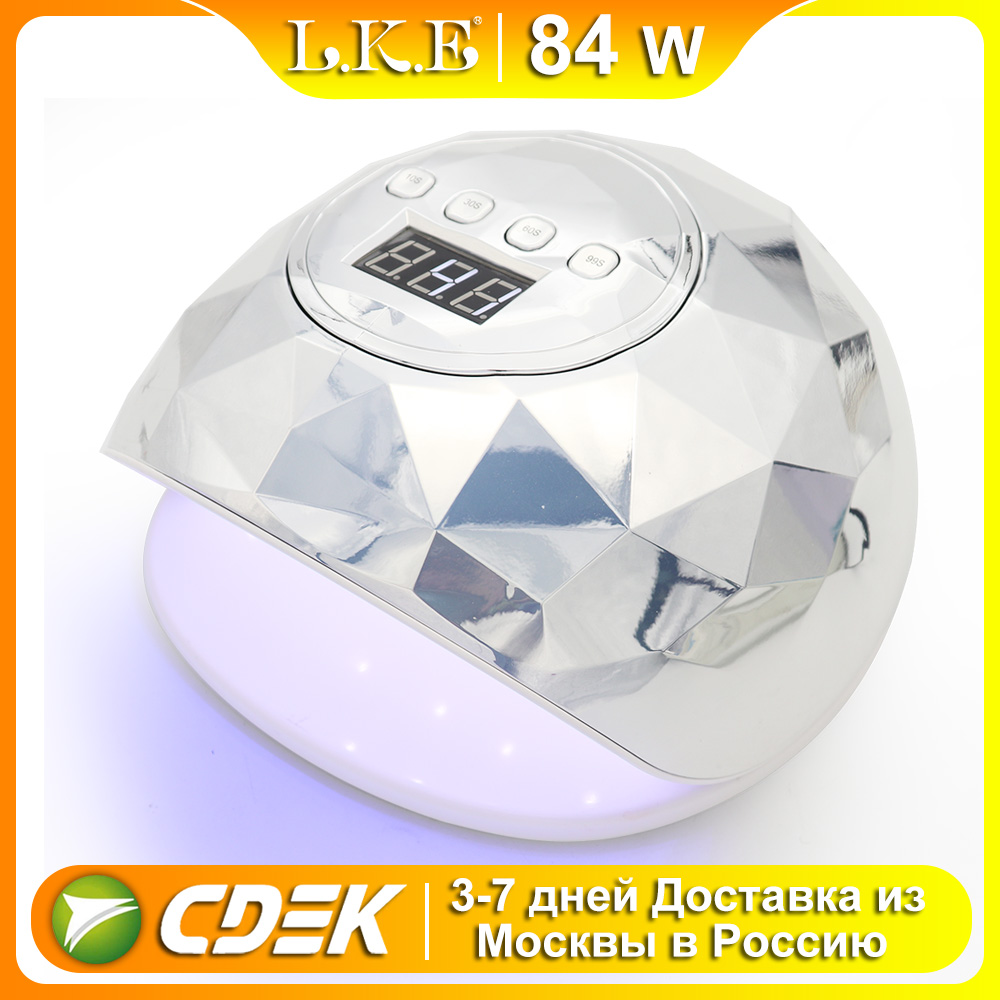 LKE F6 UV LED Lamp for Manicure Nail Lamps 86w Nail Dryer for Curing UV Gel Varnish Nail Tools With Sensor LCD Display image