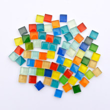 Smalll Gems Mosaico Glass Making Mirror Tiles Glass Pebbles Crafts Mosaic For Children Home DIY Beads Material Puzzle Mosaics(China)